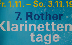7. Rother Klarinettentage von 1. bis 3. November 2019